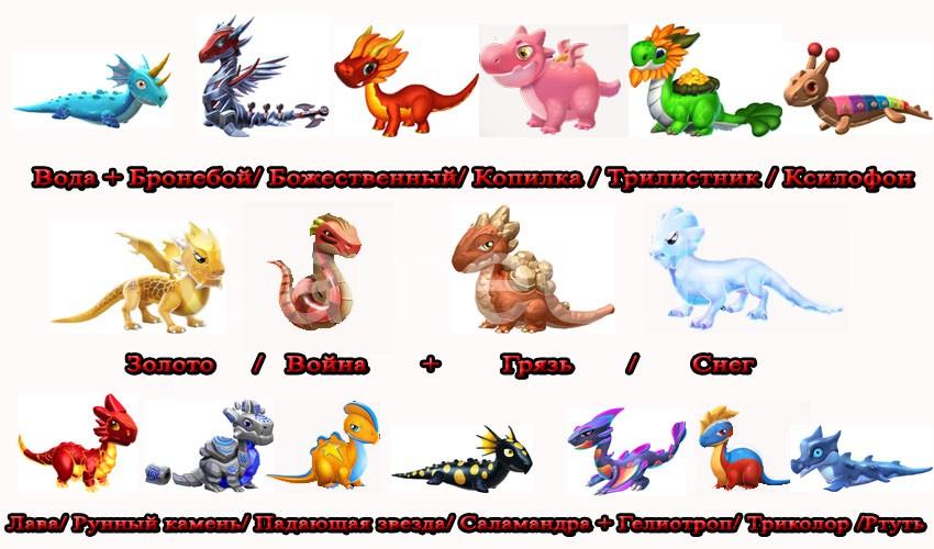 варианты для выведения недельного дракона